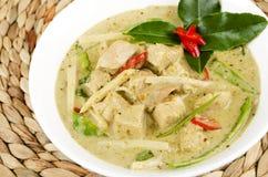 泰国绿色鸡咖喱 库存照片