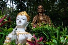 泰国-雕象的寺庙 库存图片