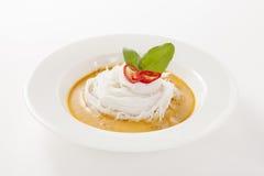 泰国细面条吃用咖喱 库存图片
