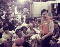 泰国2010洪水 免版税库存照片