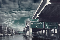 泰国2010洪水 库存图片