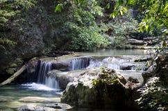 泰国 erawan瀑布 免版税库存照片