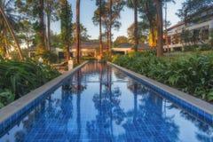泰国 Ko张 张Buri度假旅馆水池别墅 免版税库存照片