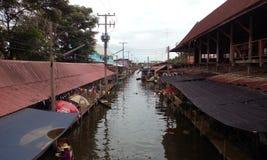 泰国` s浮动市场 库存图片