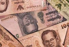 泰国` s巴恩货币-墙纸 图库摄影