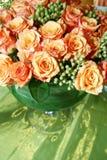 泰国007朵橙色的玫瑰 库存图片