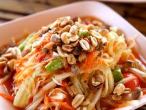 泰国01食物的somtum 免版税库存照片