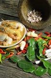 泰国02种的食品成分 库存照片