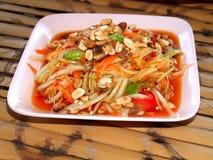 泰国04食物的somtum 免版税库存照片