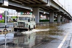 泰国2011次洪水的情形 库存图片