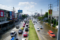 泰国2011次洪水的情形 图库摄影
