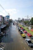 泰国2011次洪水的情形 库存照片