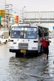 泰国2011次洪水的情形 免版税图库摄影