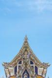 泰国Buddist寺庙三角形屋顶样式 免版税库存图片