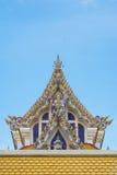 泰国Buddist寺庙三角形屋顶样式 图库摄影