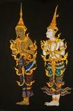 泰国craftman油漆的样式 免版税图库摄影