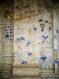 泰国ESARN著名独特的神话故事墙壁上的壁画绘画 图库摄影