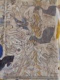 泰国ESARN著名独特的神话故事墙壁上的壁画绘画 库存照片
