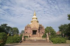 泰国ISAN KHORAT WAT PHA SALAWAN 免版税图库摄影