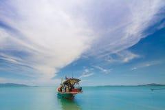 泰国moter小船 免版税图库摄影