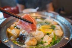 泰国sukiyaki shabu 免版税库存照片