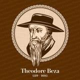 泰奥多尔・贝扎1519 –1605是扮演一个重要角色的法国被改革的新教徒神学家、改革者和学者 皇族释放例证