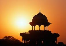 泰姬陵圆顶,阿格拉,印度。 库存照片