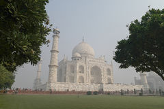泰姬陵在阿格拉,北方邦,从另外看法的印度 库存照片