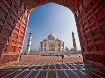 泰姬陵在阿格拉,印度 库存照片