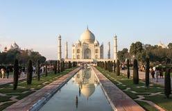 泰姬陵坟茔在阿格拉,印度 库存图片