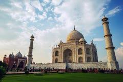 泰姬陵复合体的访客2015年9月20日,在阿格拉,北方邦, 免版税库存图片