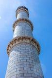 泰姬陵尖塔,印度 免版税库存照片