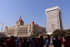 泰姬陵旅馆, Colaba,孟买 库存图片