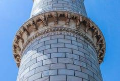 泰姬陵的尖塔 库存图片
