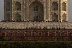 泰姬陵的细节从Mehtab Bagh的 库存图片