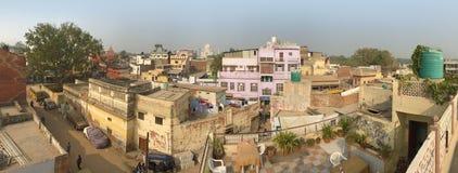 泰姬陵视图全景,阿格拉,印度 免版税库存图片