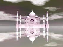 泰姬陵陵墓,阿格拉,印度- 3D回报 向量例证