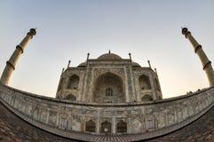 泰姬陵,广角鱼眼睛,阿格拉印度 免版税库存照片