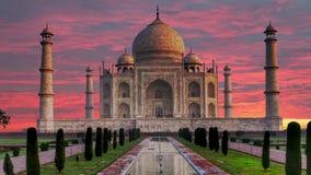 泰姬陵,阿格拉,印度的美丽的宫殿 股票录像