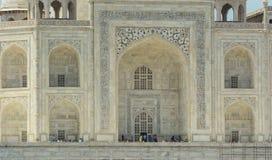 泰姬陵细节在阿格拉,印度 免版税库存图片