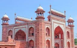 泰姬陵-主要门户,印度 库存照片