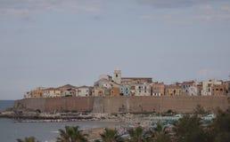 泰尔莫利莫利塞,坎恩帕贝索意大利海滨村庄 免版税图库摄影