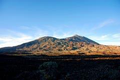 泰德峰山顶特内里费岛的 库存图片