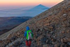 泰德峰火山在特内里费岛,西班牙 免版税图库摄影