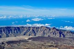 从泰德峰火山的宏伟的视图 免版税库存照片