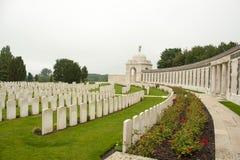 泰恩河轻便小床公墓佐内贝克伊珀尔明显战场比利时 库存照片