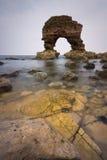 泰恩-威尔郡,英国海岸  库存照片