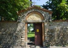 泰拉维Akhali Shuamta修道院门 库存照片