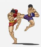 泰拳。武术 免版税库存图片