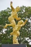 泰拳或泰国拳击纪念碑 库存图片